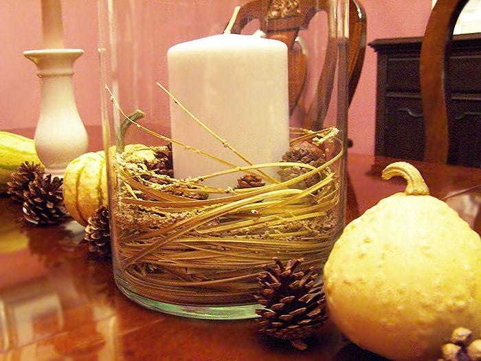 Thanksgiving Candle Holder Decor - Nazmiyal