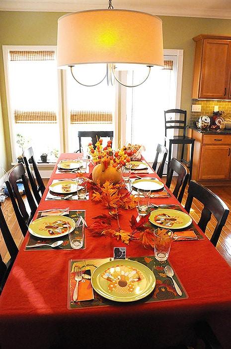 Thanksgiving Table Setting Decor - Nazmiyal