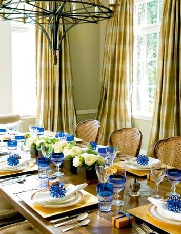 Festive Holiday Table Setting For Hanukkah Nazmiyal