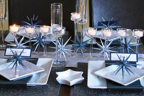 Festive Modern Hanukkah Table Setting Nazmiyal