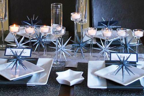 Festive Modern Hanukkah Table Setting Nazmiyal