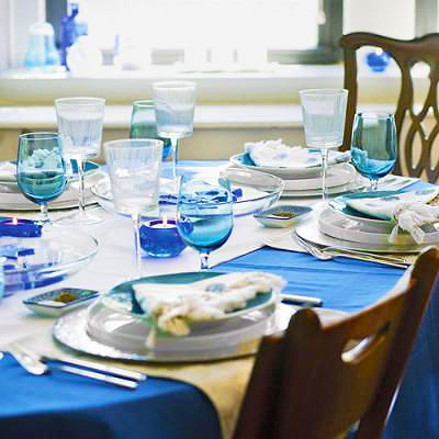 Hanukkah Jewish Holiday Table Setting Nazmiyal