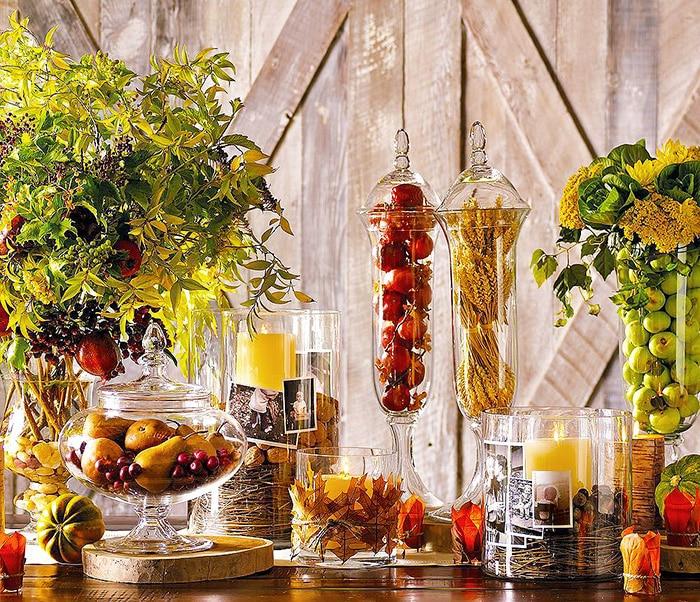 Holiday Thanksgiving Decor Table Setting - Nazmiyal