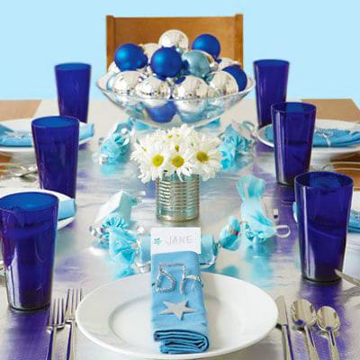 Jewish Holiday Festive Hanukkah Table Setting Nazmiyal