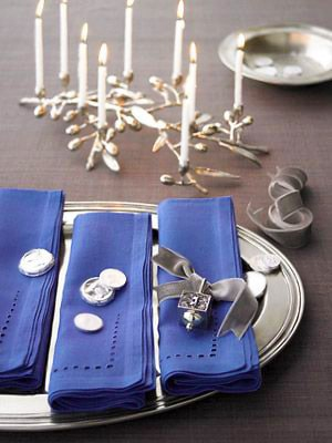 Jewish Holiday Hanukkah Table Setting Nazmiyal