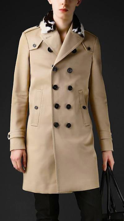 Men's Fashion – Burberry Men's Bonded Cotton Twill Trench Coat - Nazmiyal