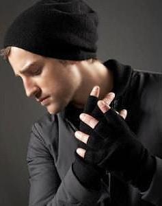 Men's Theory Fingerless Merino Gloves For Winter - Nazmiyal