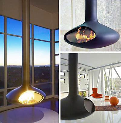 Retro Fireorb Suspended Fireplaces - Nazmiyal