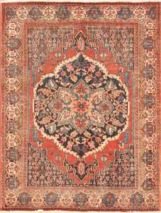 small scatter size antique persian senneh rug 460 Nazmiyal