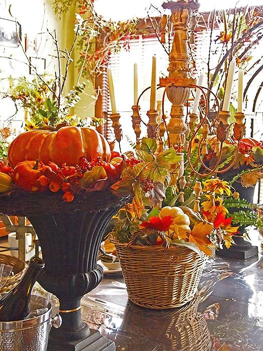Thanksgiving Decor - Floral Centerpieces - Nazmiyal
