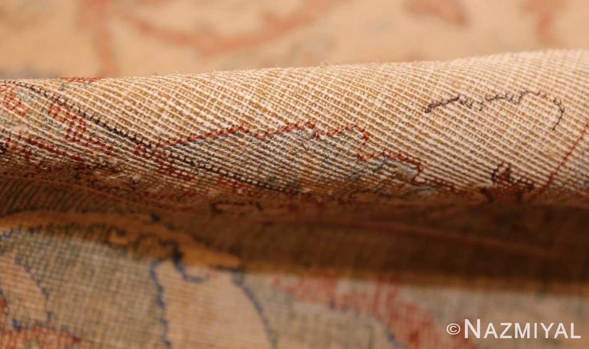 antique 17th century silk persian polonaise rug 40787 pile Nazmiyal