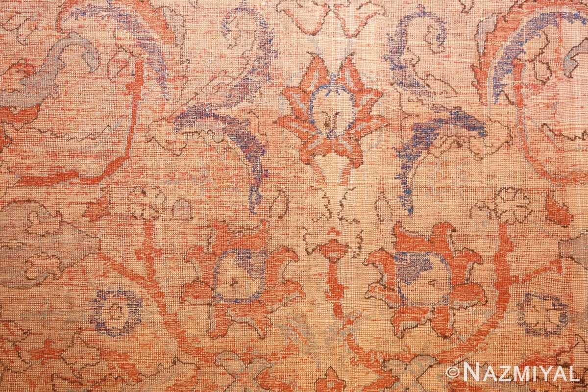 antique 17th century silk persian polonaise rug 40787 red Nazmiyal
