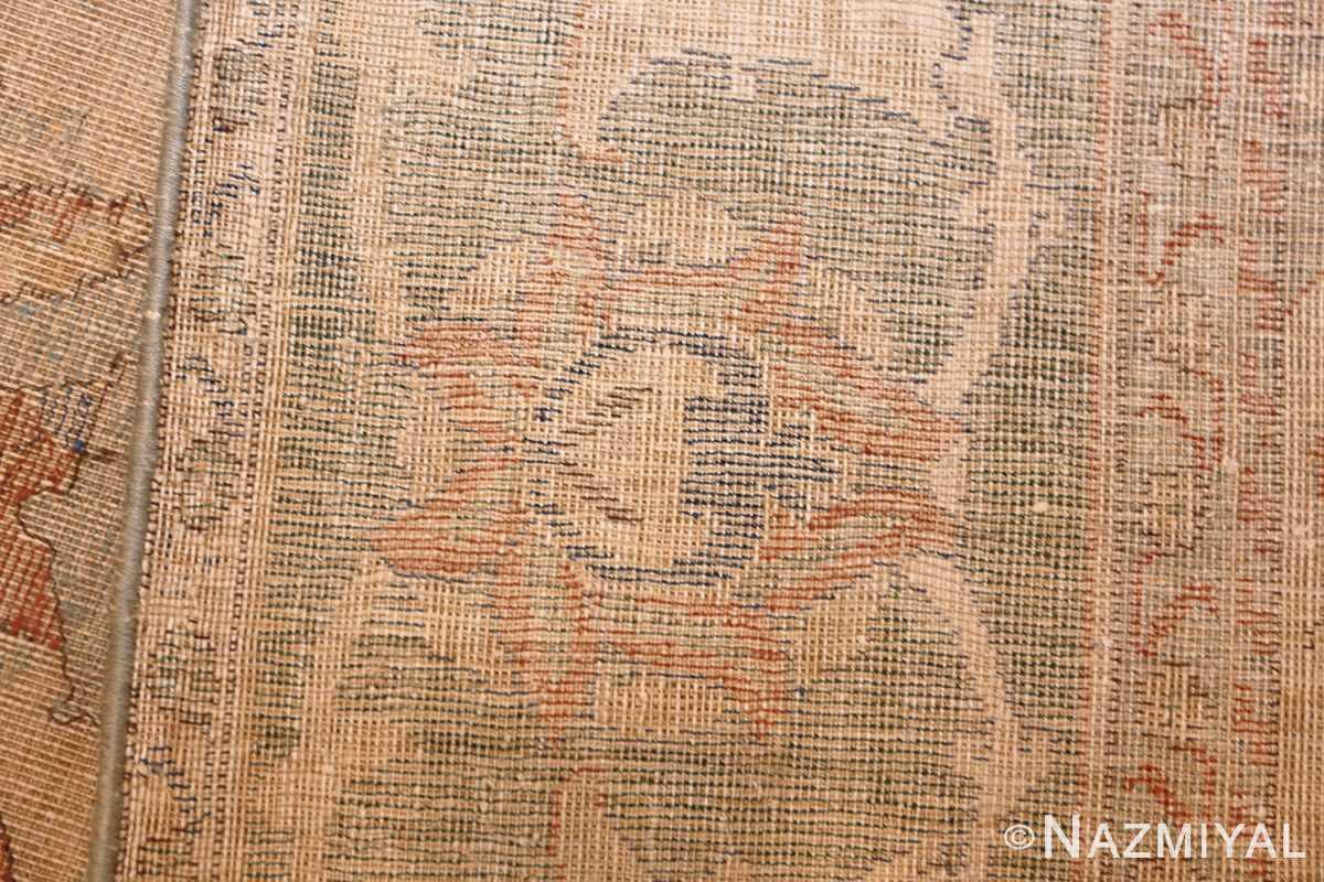 antique 17th century silk persian polonaise rug 40787 weave Nazmiyal