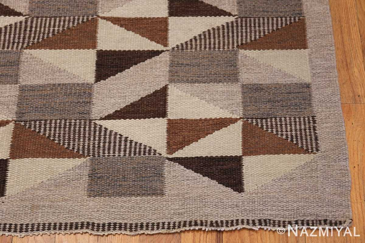 brita grahn vintage swedish rug 45522 corner Nazmiyal