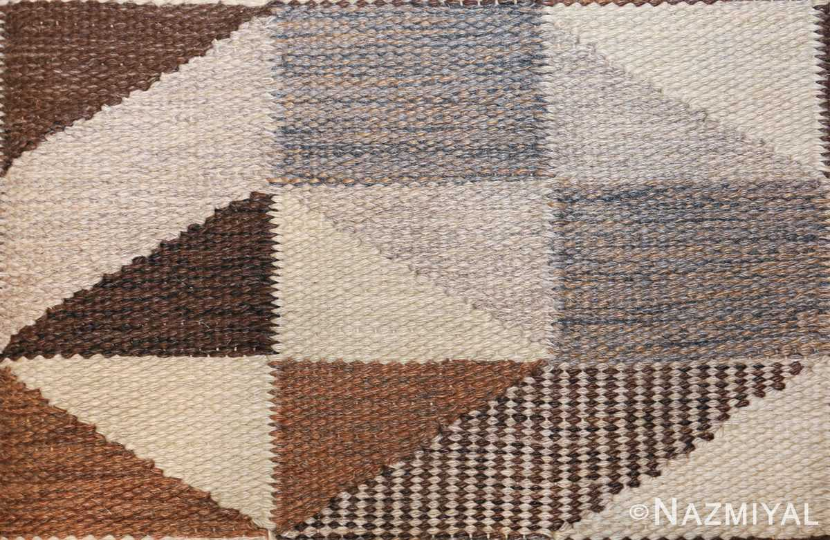 brita grahn vintage swedish rug 45522 shape Nazmiyal