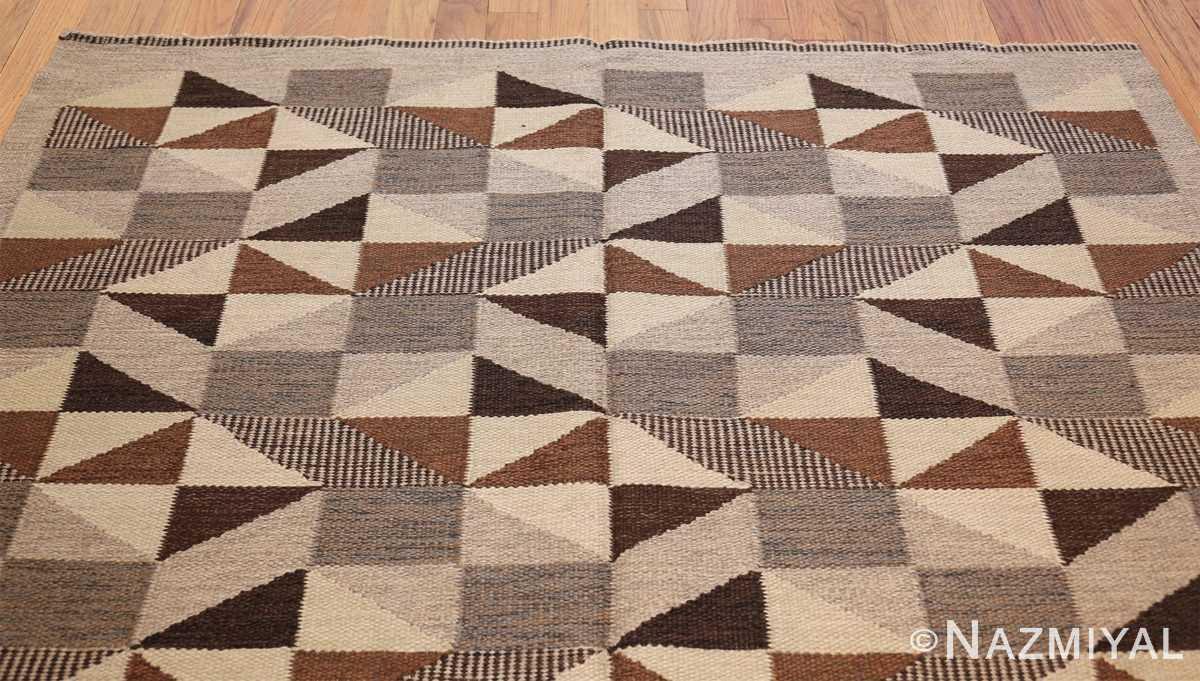 brita grahn vintage swedish rug 45522 top Nazmiyal