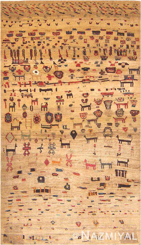 Gabbeh Rug 16506 Nazmiyal Persian Rugs