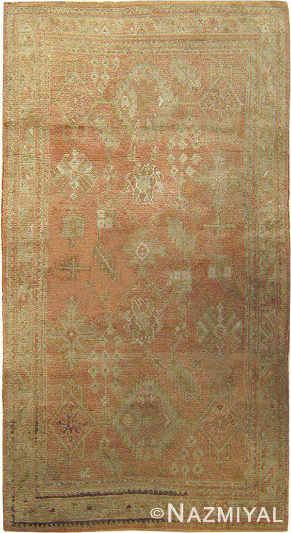 Antique Oushak  Turkish Rug 42085 Main Image
