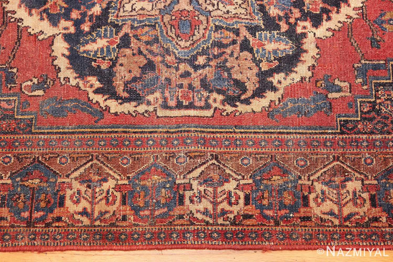 small scatter size antique persian senneh rug 460 border Nazmiyal