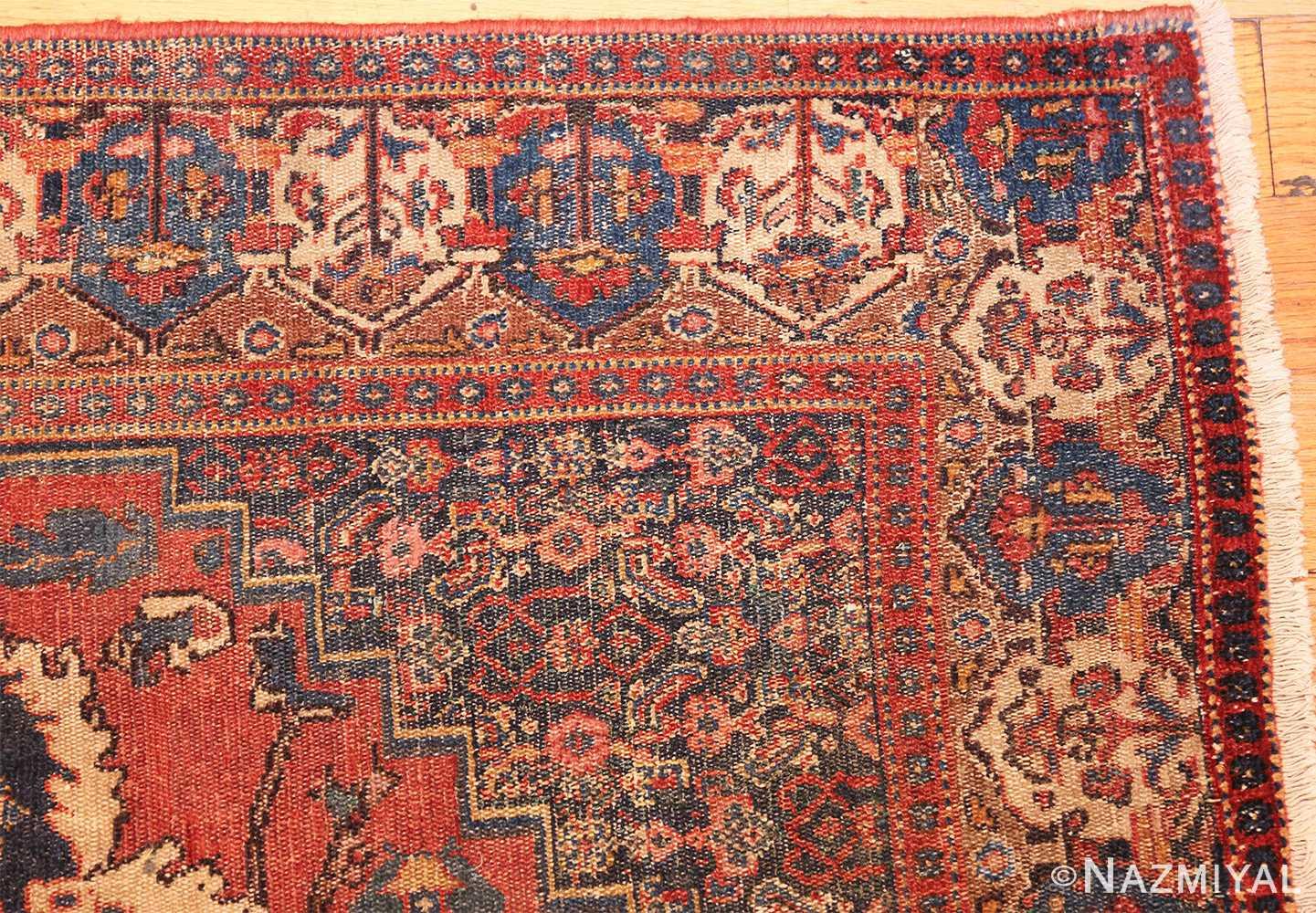 small scatter size antique persian senneh rug 460 corner Nazmiyal