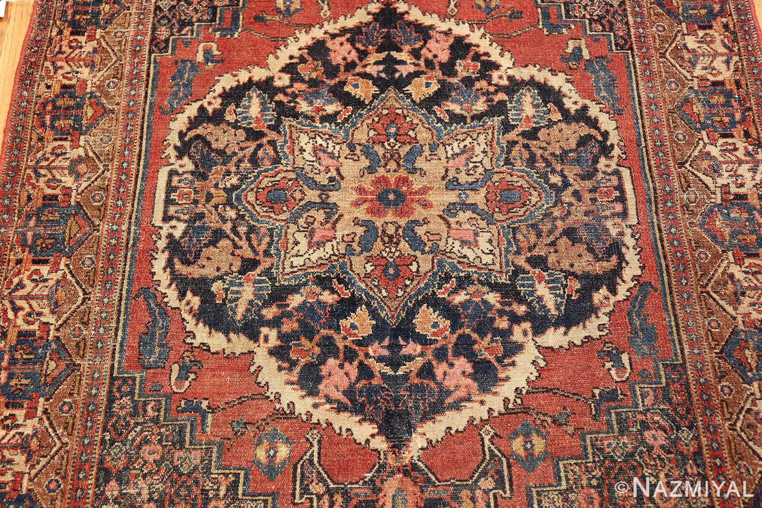 small scatter size antique persian senneh rug 460 medallion Nazmiyal