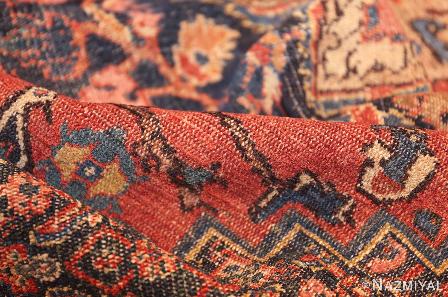 small scatter size antique persian senneh rug 460 pile Nazmiyal