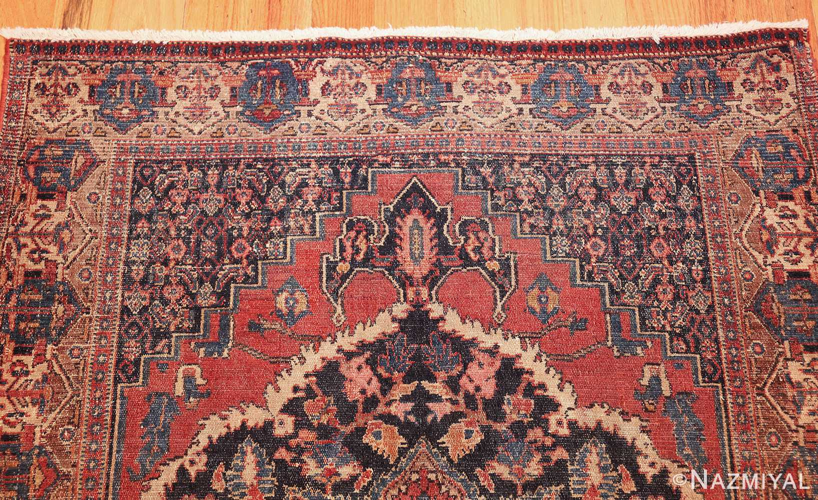 small scatter size antique persian senneh rug 460 top Nazmiyal