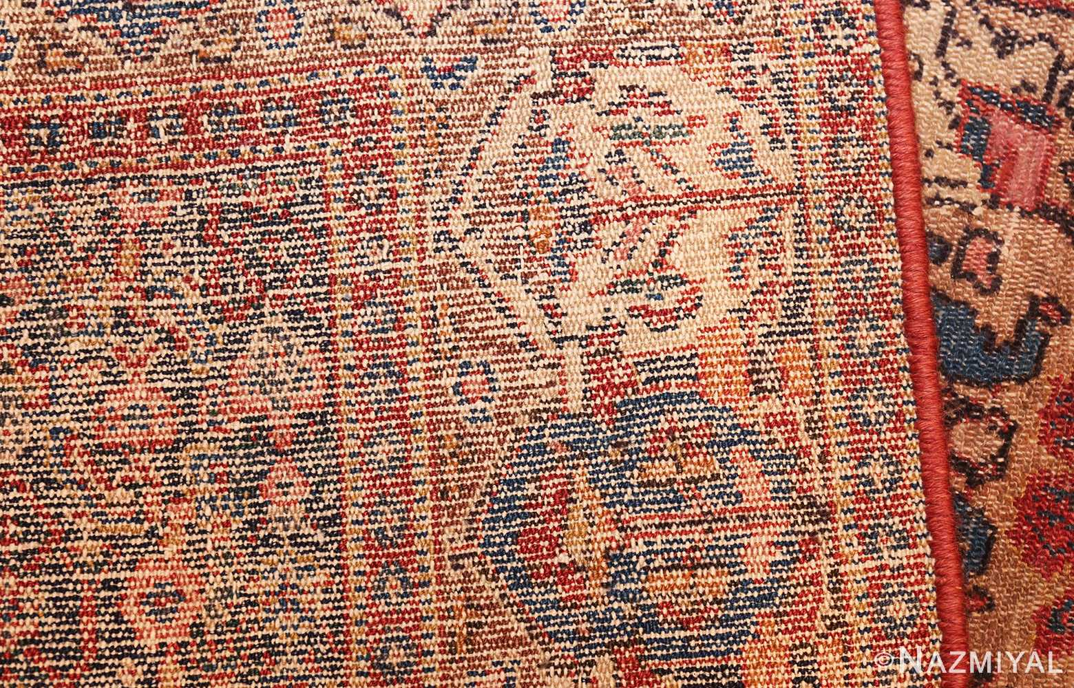 small scatter size antique persian senneh rug 460 weave Nazmiyal