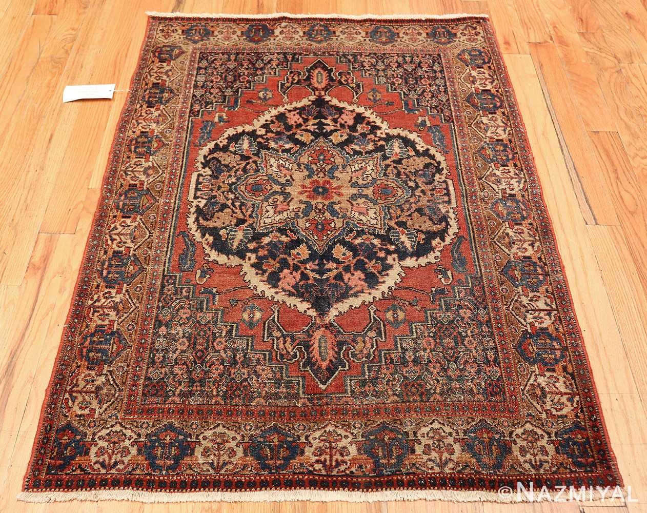 small scatter size antique persian senneh rug 460 whole Nazmiyal