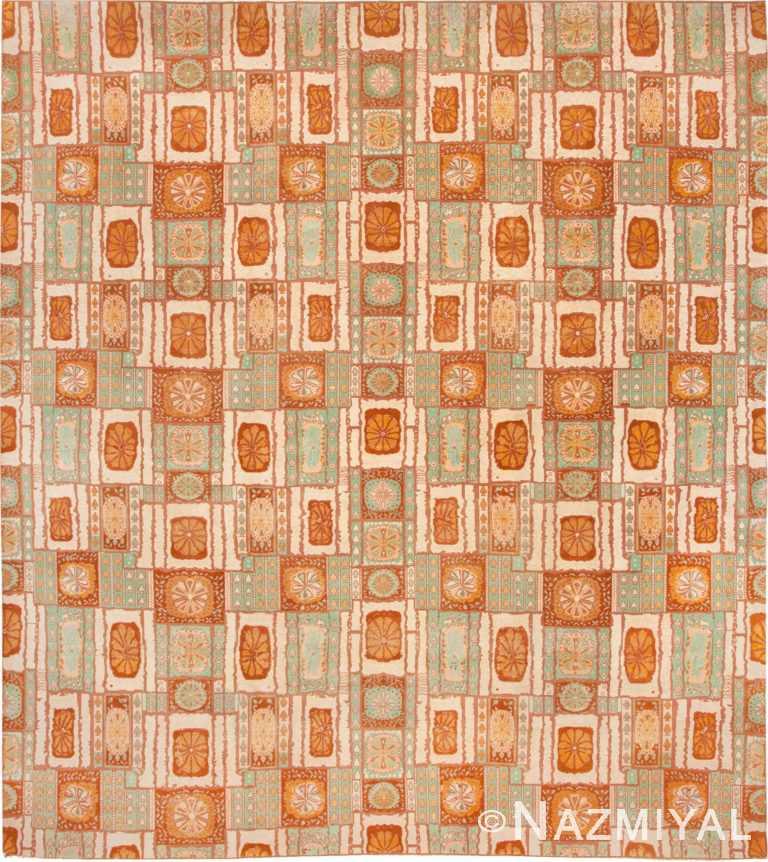 Vintage Indian Art Deco Rug #45072 by Nazmiyal Antique Rugs