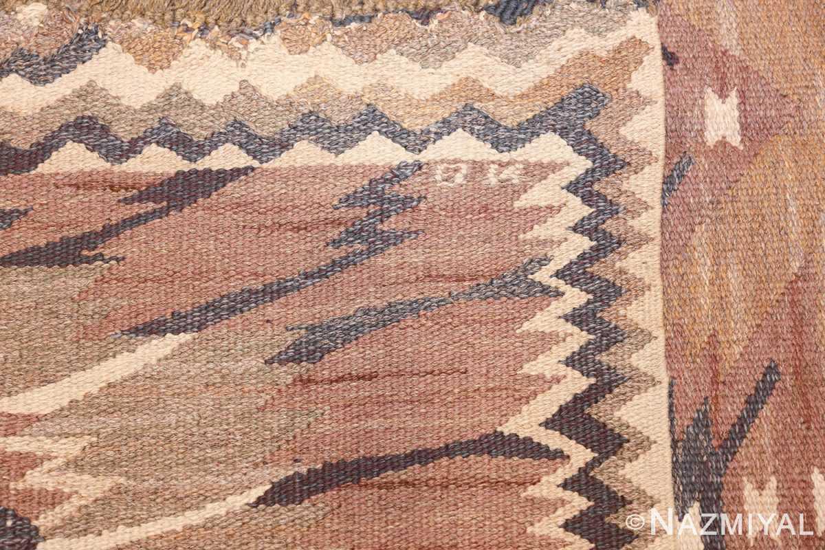 vintage marta maas fjetterstrom swedish rug 45513 knots Nazmiyal