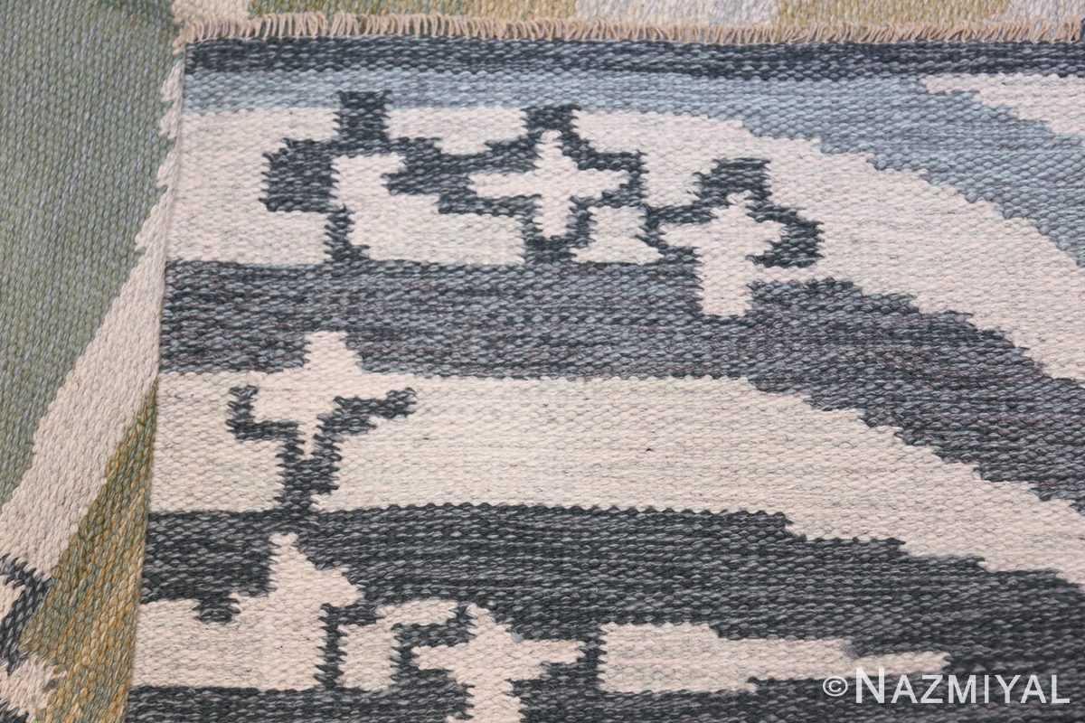 Vintage Swedish Rug by Britta Randahl Ljusterdal 45517 Knots Flat Woven Nazmiyal