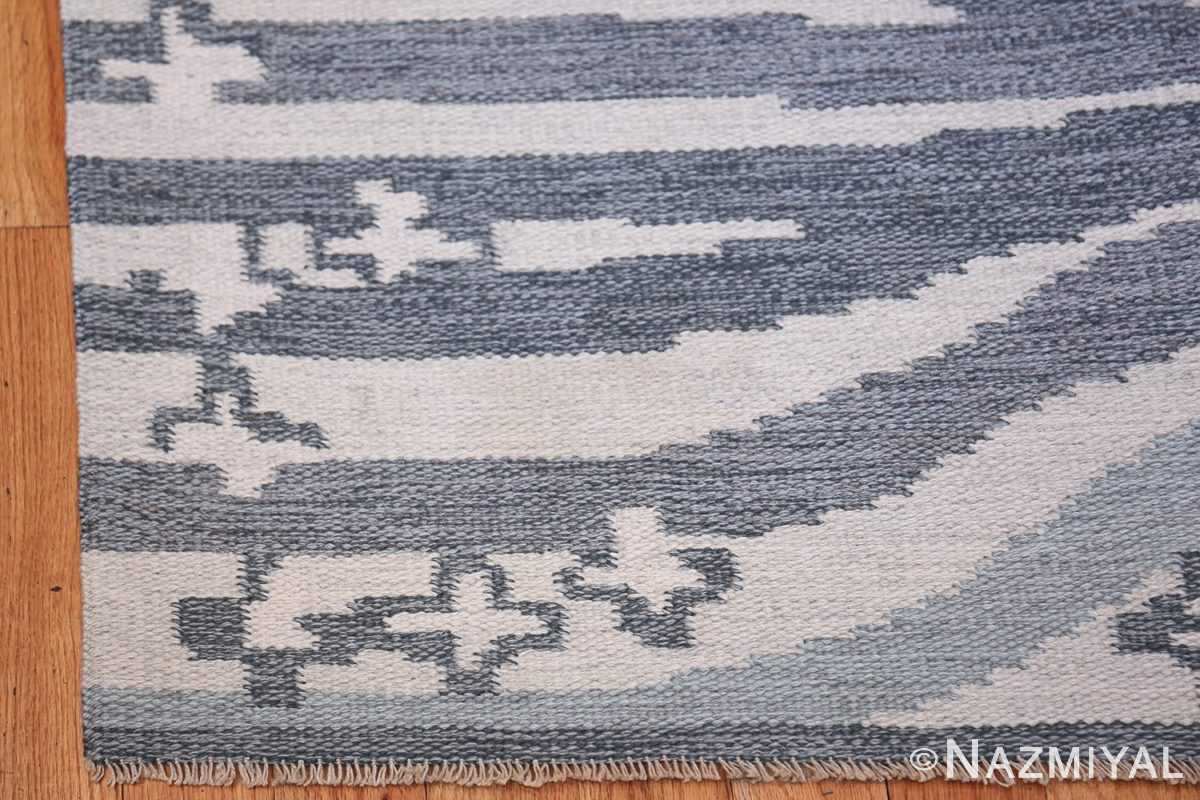 Vintage Swedish Rug by Britta Randahl Ljusterdal 45517 Side Corner Nazmiyal