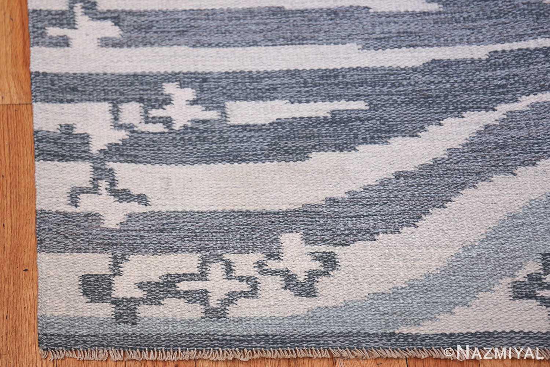 Vintage Swedish Rug by Britta Randahl Ljusterdal 45517 Side Corner Nazmiyal