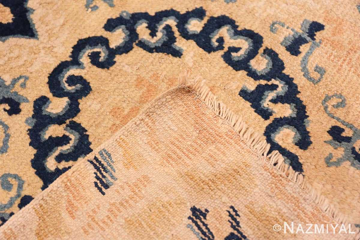 Weave Small Scatter Square size gold Antique Chinese rug 682 by Nazmiyal