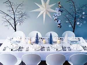 Winter Wonderland Holiday Table Setting - Nazmiyal