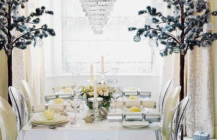 Winter Wonderland Table Setting - Nazmiyal