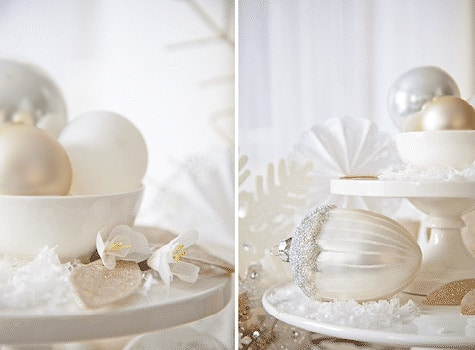 Winter Wonderland Table Setting Accent Pieces - Nazmiyal