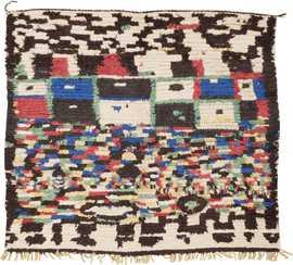Vintage Moroccan Rug 45614 Detail/Large View