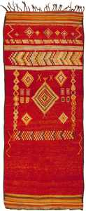 Vintage Moroccan Rug 45686 Detail/Large View