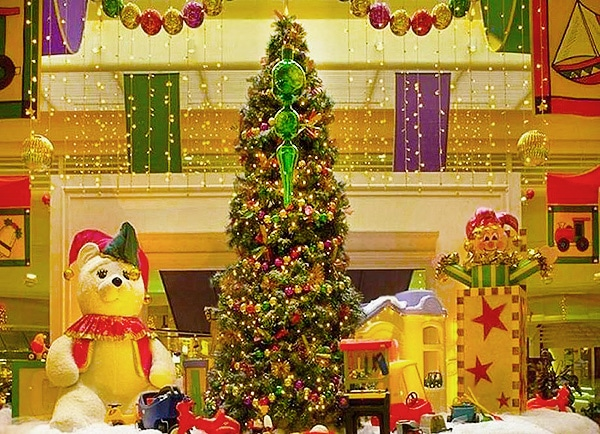 Holiday Christmas Tree Fireplace Decor by nazmiyal