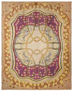 Antique Art Nouveau European Rug 45624