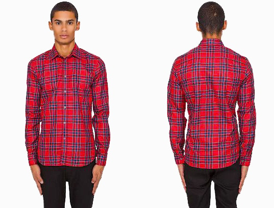 Men's Winter Fashion Looks - Givenchy Kanye Plaid Shirt - Nazmiyal