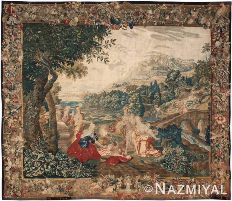 17th Century Flemish Tapestry by Nazmiyal Antique Rugs