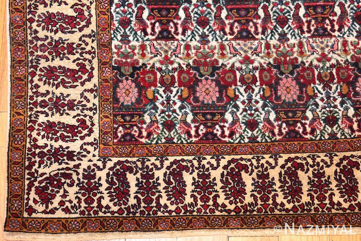 antique persian silk farahan rug 44916 corner Nazmiyal