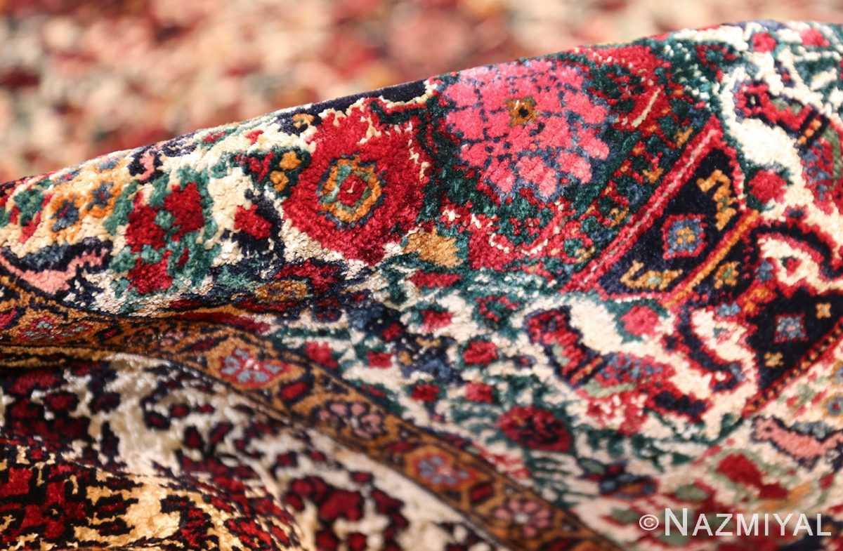 antique persian silk farahan rug 44916 pile Nazmiyal