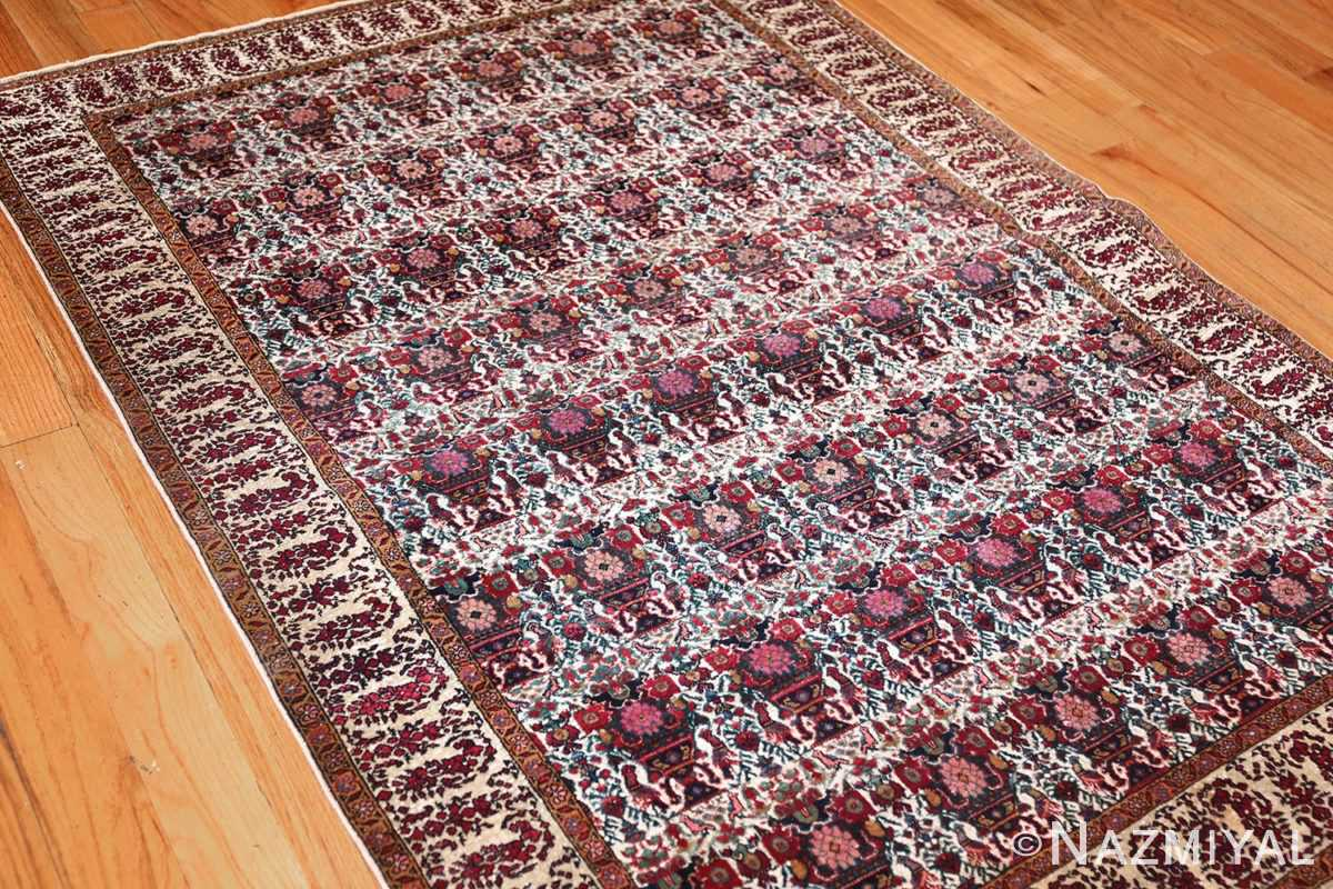 antique persian silk farahan rug 44916 side Nazmiyal