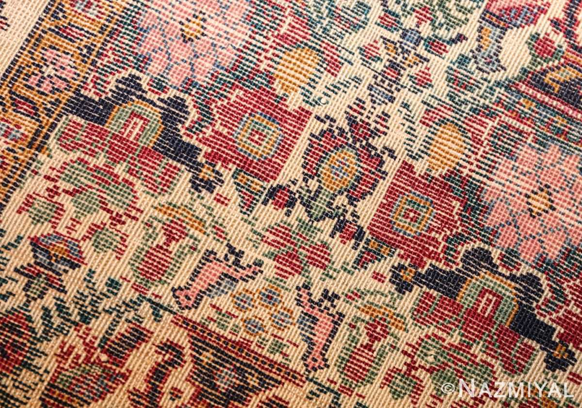 antique persian silk farahan rug 44916 weave Nazmiyal