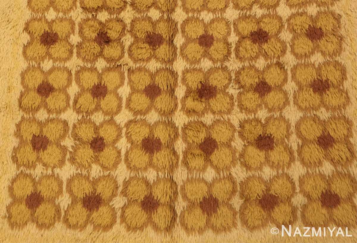 Background vintage Scandinavian Rya rug 45535 by Nazmiyal