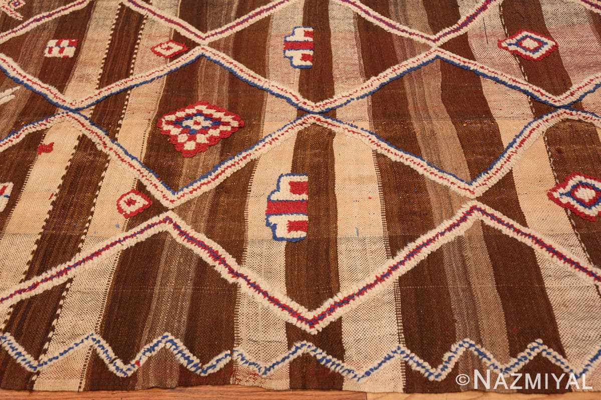 Border Tribal Vintage Moroccan Kilim runner rug 45683 by Nazmiyal